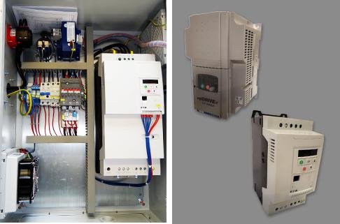Zwei Bilder von Frequenzumrichter